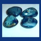 Lot of 4 Dyed CLOUDY BLUE AGATE Tumbled and Polished Natural Loose Stones