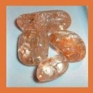 LOT of 4 Dyed ORANGE CRACKLE QUARTZ Tumbled and Polished Natural Loose Gemstones