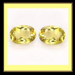 3.50ctw Pair of 2 Yellow Orange CITRINE Oval Cut Faceted Natural Loose Gemstones