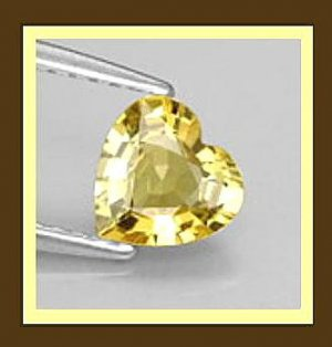 0.60ct GOLDEN YELLOW BERYL Heart Shaped 5x5mm Faceted Natural Loose Gemstone