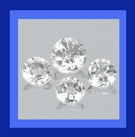 2.80ctw Lot of 4 Sparkling White Cubic Zirconia Round Faceted Loose CZ Gemstones