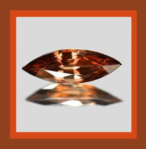 0.75ct Brown Orange Red IMPERIAL TOPAZ Marquise 10x3mm Faceted Natural Loose Gemstone