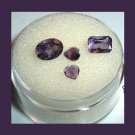 1.50ctw Lot of 4 Grape Violet Purple AMETHYST Mixed Faceted Natural Loose Gemstones
