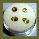 1.30ctw Lot of 4 Green Demantoid GARNET Round Pear Oval Faceted Natural Loose Gemstones