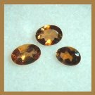 0.45ctw Lot of 3 Golden Brown IMPERIAL TOPAZ Oval 4x2mm Faceted Natural Loose Gemstones