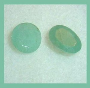 0.90ctw Lot of 2 EMERALD Oval and Round Cut Faceted Natural Loose Gemstones