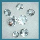 2.04ctw Lot of 7 Light Blue AQUAMARINE Round Cut Faceted Natural Loose Gemstones