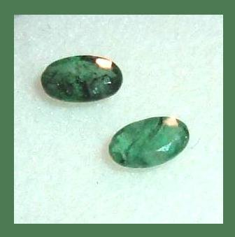 0.46ctw Pair of 2 Green EMERALD Oval Cut 4x2mm Faceted Natural Loose Gemstones