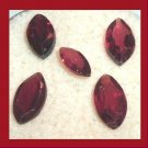 3.30ctw Lot of 5 Red GARNET Marquise Cut Natural Loose Gemstones