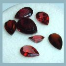 3.65ctw Lot of 7 Red GARNET Pear Cut Natural Loose Gemstones
