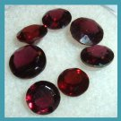 4.15ctw Lot of 7 Red GARNET Round Cut Natural Loose Gemstones