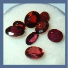 3.80ctw Lot of 8 Red GARNET Oval Cut Natural Loose Gemstones