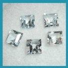 2.10ctw Lot of 5 Light Blue AQUAMARINE Square Cut 4x4mm Faceted Natural Loose Gemstones