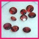 2.55ctw Lot of 9 Red GARNET Round Cut Natural Loose Gemstones