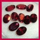 5.55ctw Lot of 10 Red GARNET Oval Cut 5x3mm Faceted Natural Loose Gemstones