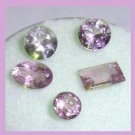 2.20ctw Lot of 5 Light Purple AMETHYST Round Oval Faceted Natural Loose Gemstones