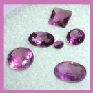 3.20ctw Lot of 6 Grape Purple AMETHYST Round Oval Square Faceted Natural Loose Gemstones