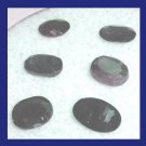 4.05ctw Lot of 6 Natural Blue SAPPHIRE Oval Cut Faceted Loose Gemstones