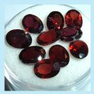 9.95ctw Lot of 10 Red GARNET Oval Cut 6x4mm Faceted Natural Loose Gemstones