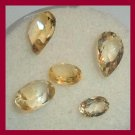 2.85ctw Lot of 5 GOLDEN YELLOW BERYL Pear and Oval Faceted Natural Loose Gemstones