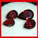 2.75ctw Lot of 4 Red GARNET Pear Cut Natural Loose Gemstones