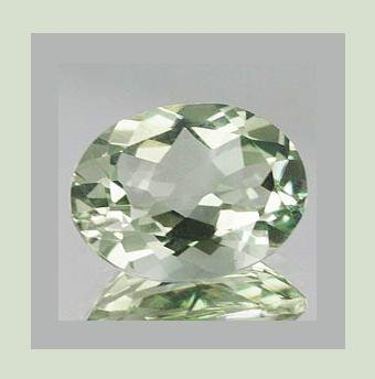 3.60ct PRASIOLITE Oval Cut 12x9mm Faceted Natural Loose Gemstone