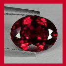 2.70ct Dark Red GARNET Oval Cut 10x7mm Faceted Natural Loose Gemstone