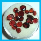 7.15ctw Lot of 18 Red GARNET Pear Round Oval Faceted Natural Loose Gemstones