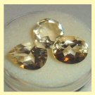 5.00ctw Lot of 3 GOLDEN YELLOW BERYL Oval Pear Round Faceted Natural Loose Gemstones