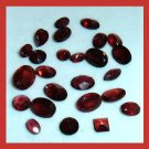 14.90ctw Lot of 25 GARNET Oval Round Marquise Pear Square Faceted Natural Loose Gemstones