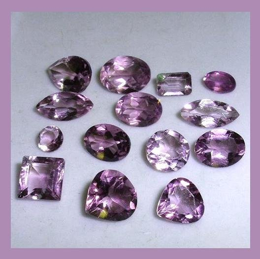 14.10ctw Lot of 14 AMETHYST Oval Heart Marquise Square Pear Round Emerald Cut Loose Gemstones