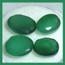 6.15ctw Lot of 4 GREEN ONYX Oval Cut Faceted Natural Loose Gemstones