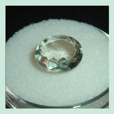 2.40ct PRASIOLITE Oval Cut 10x8mm Faceted Natural Loose Gemstone