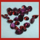 12.00ctw Lot of 24 Rhodolite GARNET Trillion Heart Oval Round Pear Faceted Natural Loose Gemstones