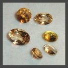 2.70ctw Lot of 6 YELLOW GOLDEN BERYL Round and Oval Cut Faceted Natural Loose Gemstones