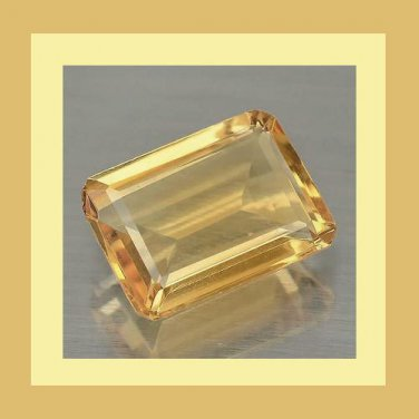 2.80ct GOLDEN YELLOW BERYL Emerald Cut 11x7mm Faceted Natural Loose Gemstone