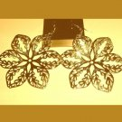 2 STARS 18K Yellow Gold Overlay 2 inch Chandelier Dangle Hook Earrings