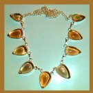 SMOKY QUARTZ Pear Cut Brown Gemstone 925 Sterling Silver Overlay Necklace