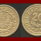 TUNISIA 1960 20 MILLIM BRASS COIN KM#307 AH1380 22mm Africa