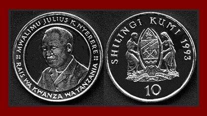 TANZANIA 1993 10 SHILINGI COMMEMORATIVE COIN KM#20a Africa 28.5mm ~ AU ~ BEAUTIFUL!