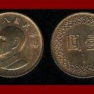 TAIWAN RPC 1984 1 YUAN Chiang Kai-shek BRONZE COIN Y#551 ASIA Year 73