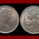 AUSTRALIA 1968 5 CENTS COIN KM#64 Oceania ~ Anteater