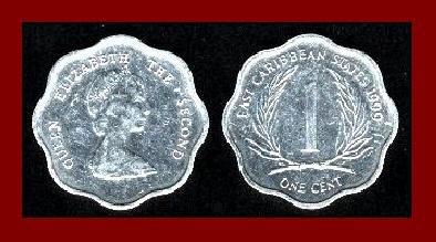EAST CARIBBEAN STATES 1998 1 CENT COIN KM#1 Caribbean