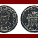 FAO ISSUE - JAMAICA 1996 1 DOLLAR COMMEMORATIVE COIN KM#164 Caribbean Bustamante ~ BEAUTIFUL!