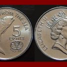 FAO ISSUE - FIJI 1995 5 CENTS COIN KM#77 South Pacific ~ SURVIVOR 2007 ~ BEAUTIFUL!