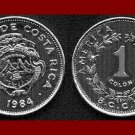 COSTA RICA 1984 1 COLON COIN KM#210.1 Central America ~ BEAUTIFUL!