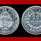 COSTA RICA 1983 25 CENTIMOS COIN KM#188.3 Central America