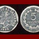EL SALVADOR 1998 5 CENTAVOS COIN KM#154b Central America