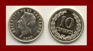 EL SALVADOR 1977 10 CENTAVOS COIN KM#150a Central America ~ BEAUTIFUL!
