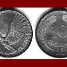 CHILE 1967 10 CENTESIMOS COIN KM#228.2 South American Condor Bird